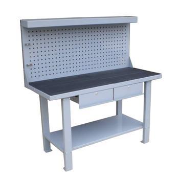 mesa de trabajo con panel frontal