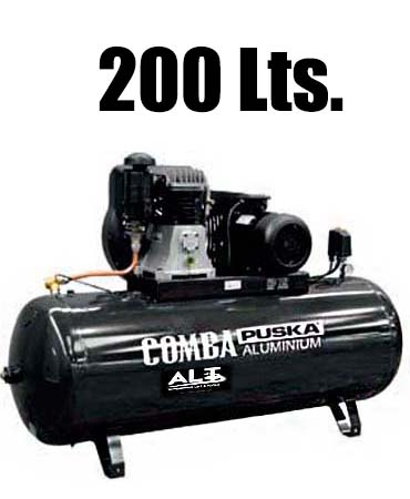 Compresor 200L. Imagen de Elevadores de Coches Automotive Lift and Tools.