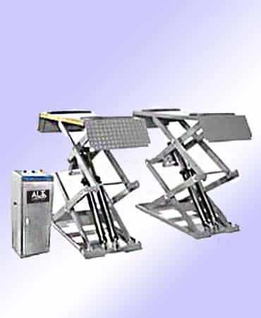 Imagen de Elevador de tijera de coches. Esta imagen pertenece a Elevadores de Coches Automotive Lifts and Tools.